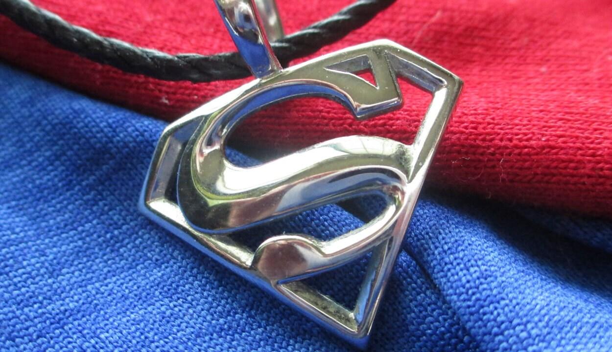 superman charm pendant by jeremymallin on etsy