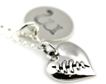 LUXE MENDED HEART Initial Personalized Necklace*
