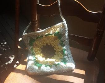 Lucette -  Sunflower Small Boho Crochet Bag
