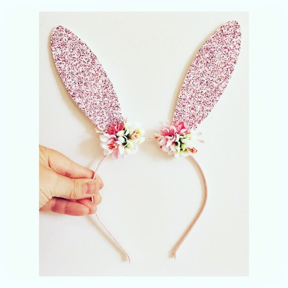 bunny ears headband template - bunny headband pink bunny ears rabbit ears headband