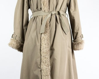 Vintage Overcoat // Fake Fur