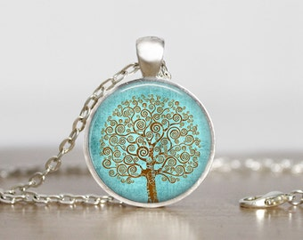 Tree of Life Pendant Tree of Life Necklace Tree of Life Jewelry  Klimt Tree of Life Pendant   Klimt Tree of Life Jewelry  Klimt Tree of Life