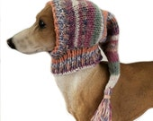 Small Whippet Snood dog hat Italian greyhound clothing Lurcher small dog hat Lurcher snood greyhound puppy dog clothes galgo hat