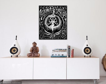 """Limited Print of hand-drawn Concert Poster """"Kali"""""""