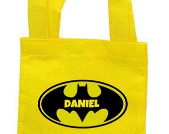 Batman party favor bags, batman bags, batman party, batman party favors, batman birthday, batman totes