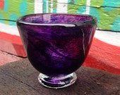 Glass Art One of a Kind Hyacinth Glass Blown Candy Bowl