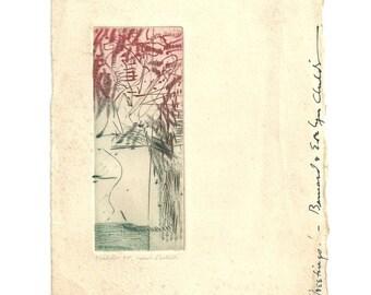 Bernard Childs Print Artist Proof Color Etching 1955