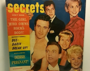 Movie TV Secrets Magazine - Feb 1962 - Rock Hudson, Boby Darin - Good Condition