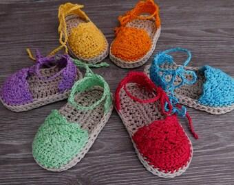 Crochet Pattern Baby Espadrille, Baby Sandals , Baby booties, Crochet Pattern Espadrille N.104