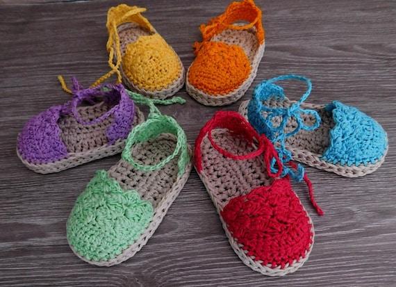 Crochet Pattern Baby Espadrille Baby Sandals Baby booties