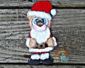 Santa Embellishment, Santa Bear, Tear Bears, Tear Bear, Scrapbook Embellishment, Christmas Embellishment, Scrapbook Paper Piecing, #LTBK