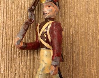 Brooch British infantry soldier in uniform. Early twentieth century