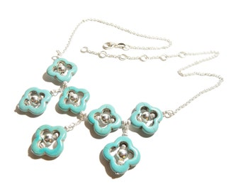Beautiful Turquoise Sterling Silver 925 necklace