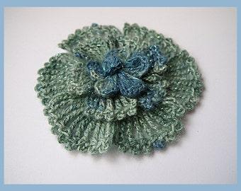 crochet flower pattern,detailed tutorial,crochet embelishment,crochet brooch,crochet flower pin,crochet decor pattern,irish crochet pattern