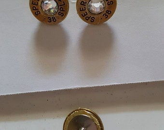 Just for her - .38 Special Post earrings Crystal Center