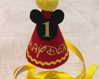 Mickey Mouse Monogrammed Party Hat