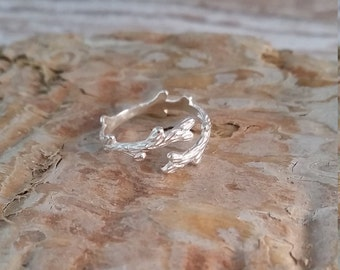Tree Branch Ring - Sterling Silver