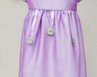 Flower Girl, Bridesmaid, Baby Birthday Party Dress, Special Occasion Dress. Toddler Dress, Purple Dress, 9-12 Months Dress By JQDresses
