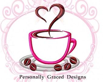 Taza con corazones bordados dise o de m quina para los for Descargar embroidery office design 7 5 full