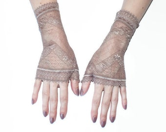 Lace gloves\Fingerless Lace Gloves\ Fingerless Gloves\ Lace Gloves\ Gloves\Cuff Lace Gloves