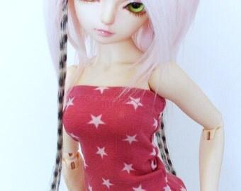 Pink Star BJD Tube Top - Kawaii Minifee Top - Bjd Lingerie - Yosd Pink Top - Msd Top - Sd Bjd Clothes - Bjd Doll Clothing - Doll Accessories