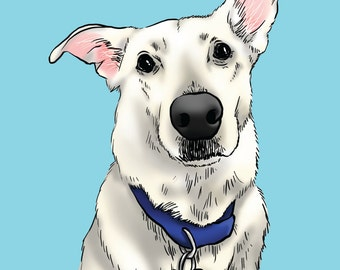 Custom Pet Portrait. Sketch Portrait. Personalized Decoration. Gift Ideas for Birthday,Anniversary, Graduation etc. (DIGITAL FILE ONLY)