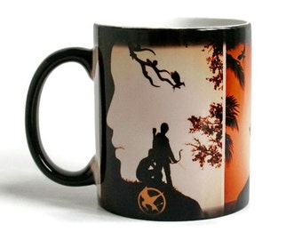 Hunger Games Mug, Color Changing Mug, Hunger Games Inspired, The Hunger Games Mug, Hunger Games Coffee Mug, Katniss Everdeen, Ceramic Mug