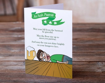 St. Patrick's Day Greeting Card | Irish Birthday Card | 21st Birthday Card | Funny Card | Snarky Birthday Card | Humor Card | Humorous Card