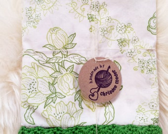 Vintage Pillowcase with crochet edging