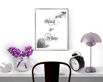Black and white wall art, Wall art prints, Black and white print, Instant download printable art