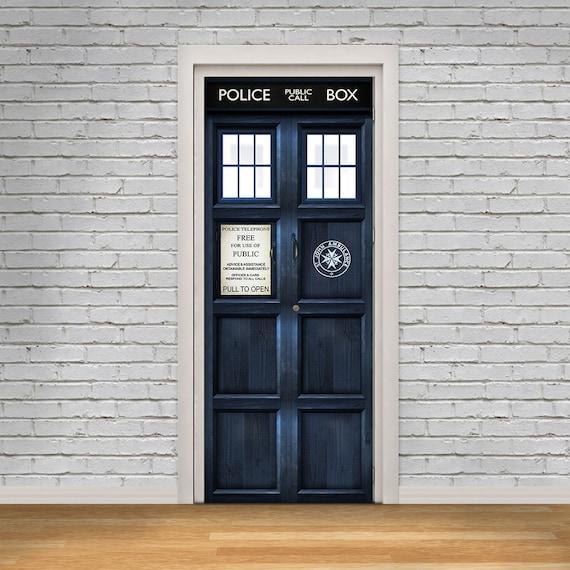 good looking doctor who tardis door decal. Like this item  Tardis London Police Box Self Adhesive Door Decal Vinyl