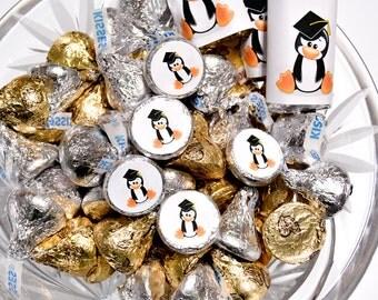 324  Penguin Graduation Party Favor Kiss Sticker, Graduation Label Hershey® Kiss, Graduation Party, Graduation Label, Graduation Party Favor