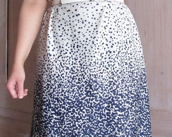 Vintagedress 1960 gradient dotted white blue
