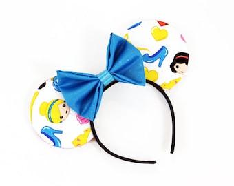 Emoji Princess Mouse Ears - CHOOSE YOUR BOW