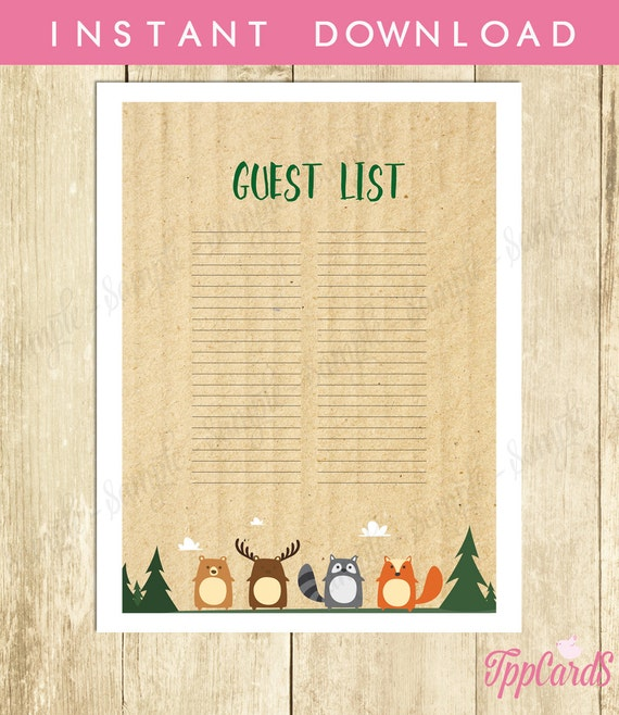 Doc600771 Baby Shower Guest List Printable Baby Shower Guest – Printable Baby Shower Guest List