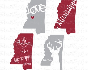 Mississippi Life Design for Silhouette and other craft cutters (.svg/.dxf/.eps/.pdf)