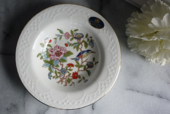 "Aynsley Fine Bone China ""Pembroke"" floral, vintage Trinket bowl, wedding gift for her, anniversary gift, Mother's Day gift, jewelry dish"