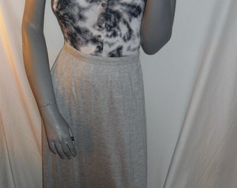 Gray Jersey Casual/Career Pockets Full Maxi length jersey Skirt M
