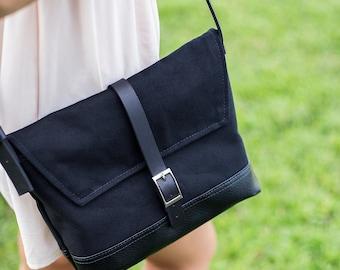 Crossbody Purse  - Black Crossbody Purse for Women - Handbag Crossover Bag - Satchel Bag - Shoulder Bag - Black Cross Body Bag