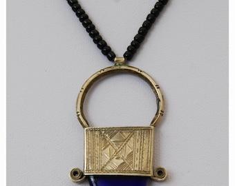 COBALTBLUES - TUAREG TRIBE Ingal nacklace. Saharan talisman pendant/hand made amulet. African tribal bohemian jewellery.