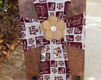 Texas A&M.Aggie Cross.Aggies.Gig em.ATM Fabric.Aggie Fabric.College Station.aTm.Aggieland.Aggie Life.Aggie mom.Crosses.Texas Aggies.College