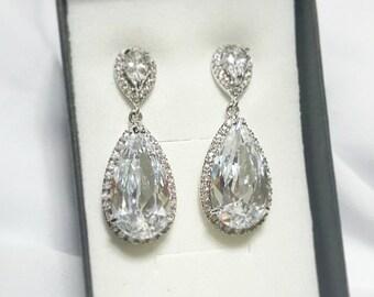Bridal Chandelier earrings, Bridal earrings, Wedding earrings, Earrings crystal, Bridal jewelry, Statement Bridal Earring, Crystal earrings