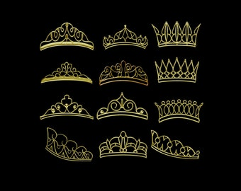 Clipart Crown, Clipart Crowns, Gold Tiaras Clipart, Clipart Tiara, Gold Crown Clipart, Gold Crowns Clipart, Clipart Gold Crowns