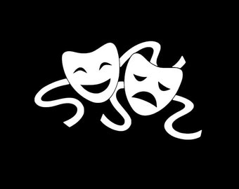 Comedy Tragedy Decal | Drama Masks| Theater | Party Supplies