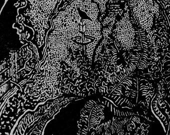 Framed Garden Illustration
