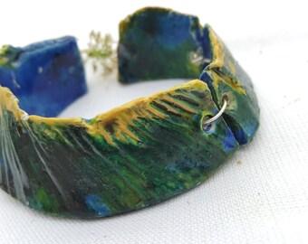 Unique stoneware bracelet