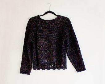 Vintage Rainbow Plush Sweater