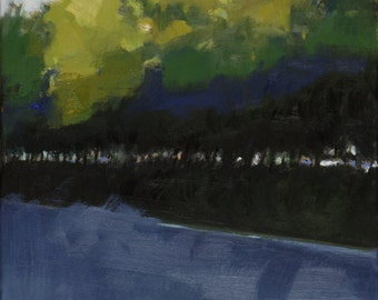 Urban landscape - original painting, oil on canvas, cm 40x30