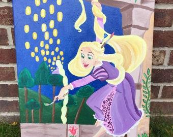 Disney painting Rapunzel -disney tangled painting