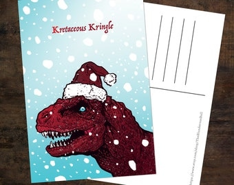 Kretaceous Kringle Postcard